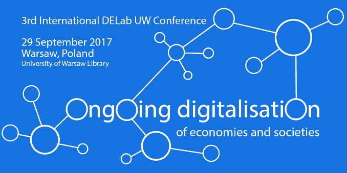 29 September 2017 – 3rd International DELab UW Conference