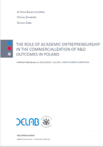 The role of academic entrepreneurship in the commercialization of R&D outcomes in Poland