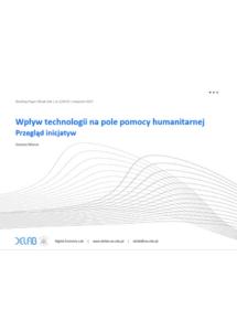 Wpływ technologii na pole pomocy humanitarnej. Przegląd inicjatyw