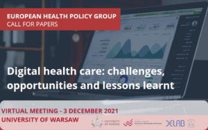 Digital health care: challenges, opportunities and lessons learnt – 3grudnia 2021